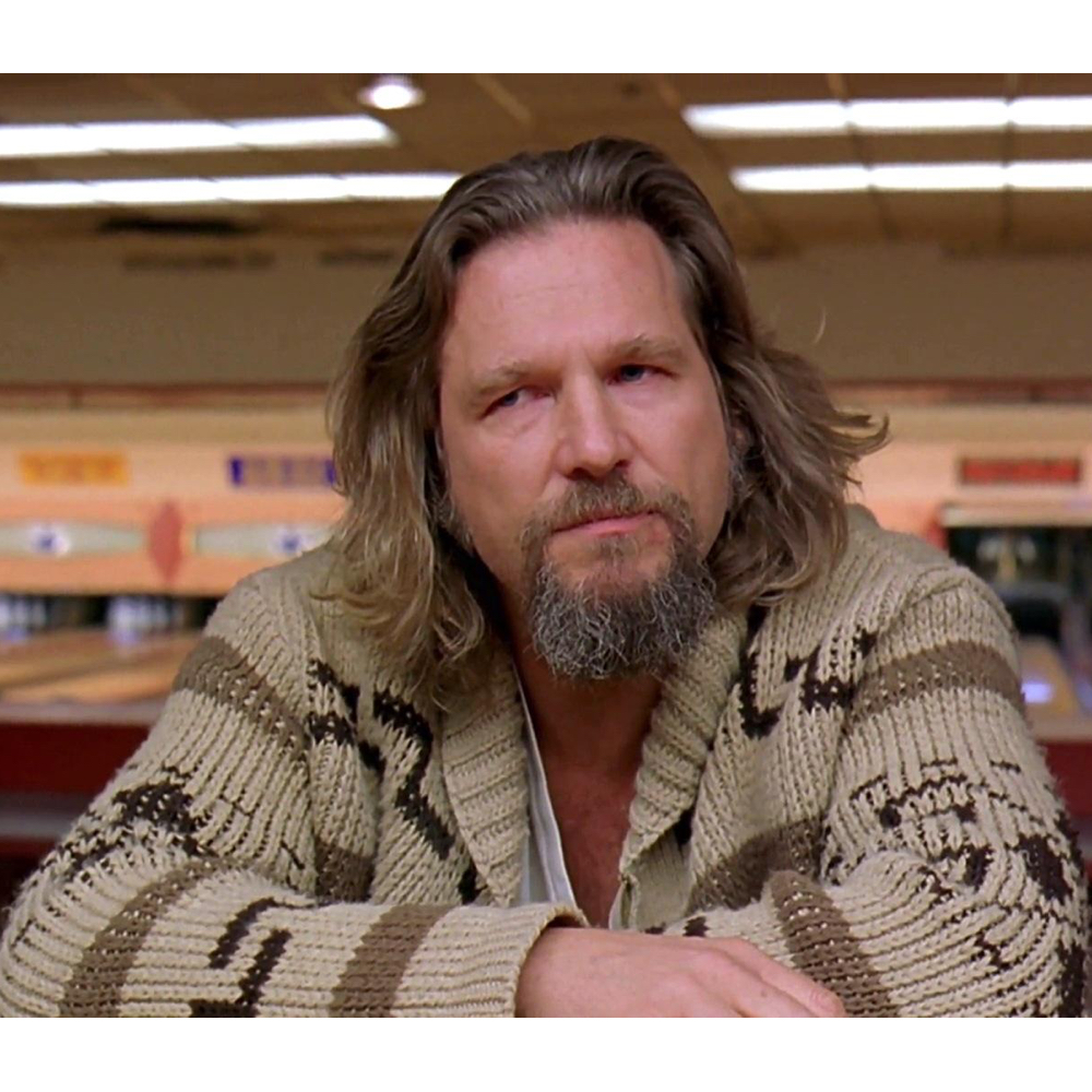 The Dude Costume - The Big Lebowski - Jeffery Lebowski Costume - The Dude Cardigan