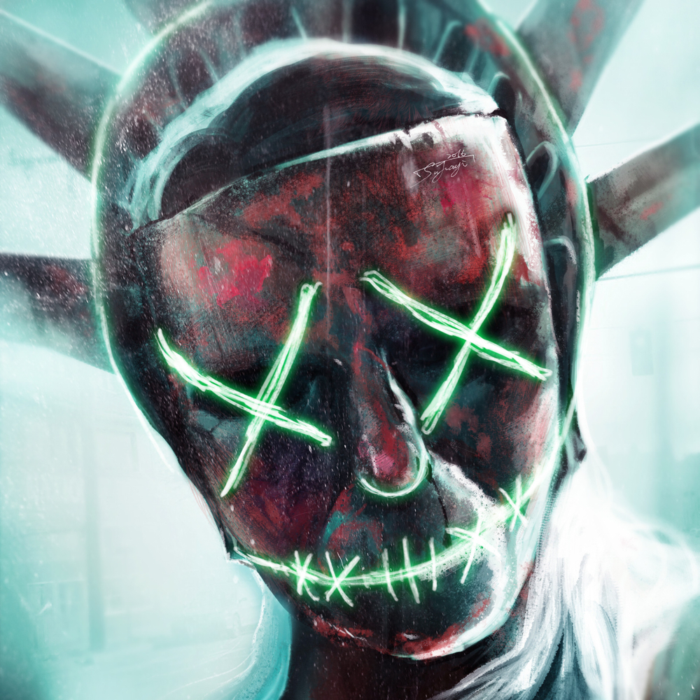 The Purge Election Year Costume - The Purge Cosplay - Lady Liberty Torch