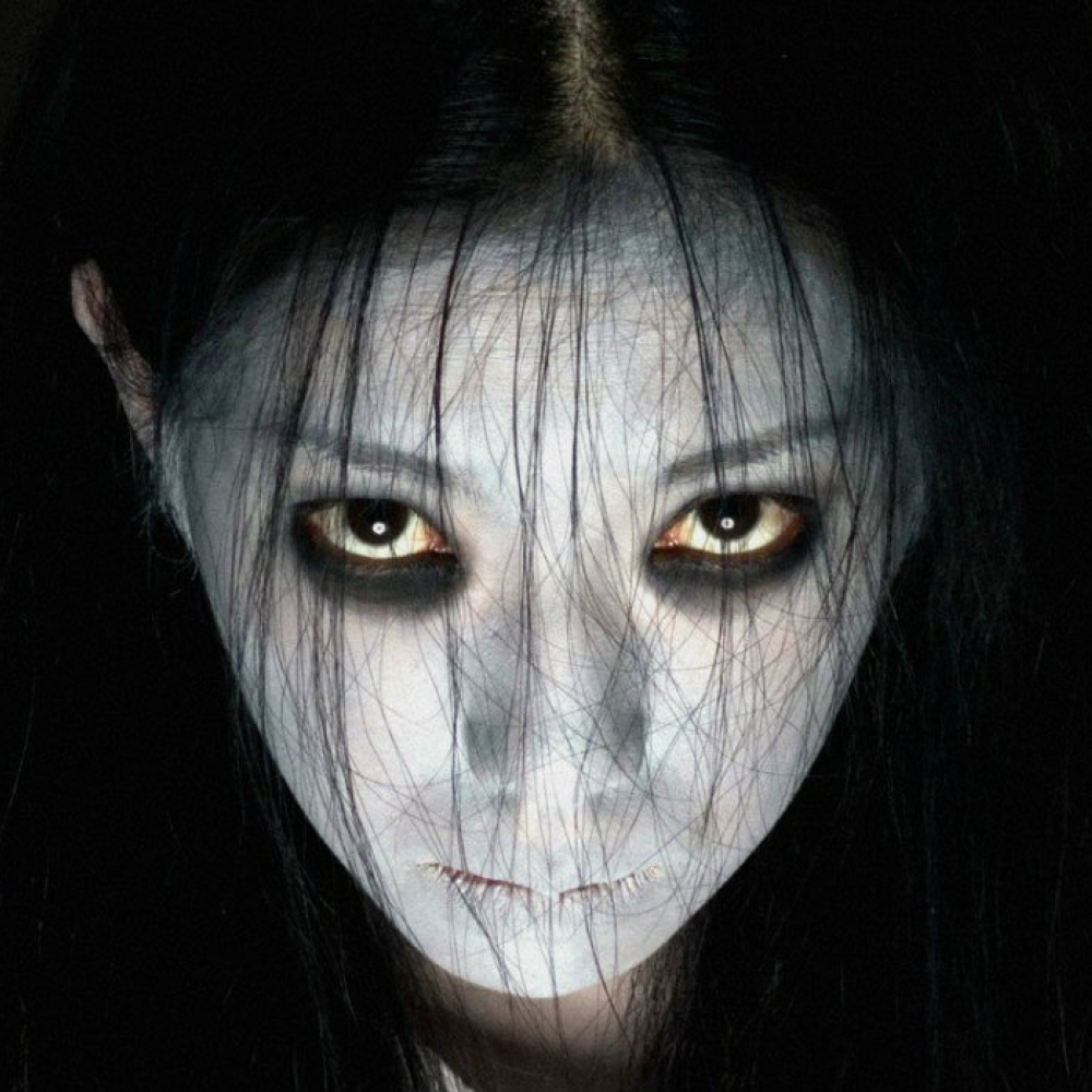 Kayako Saeki Costume The Grudge - Kayako Saeki Black Eyeliner
