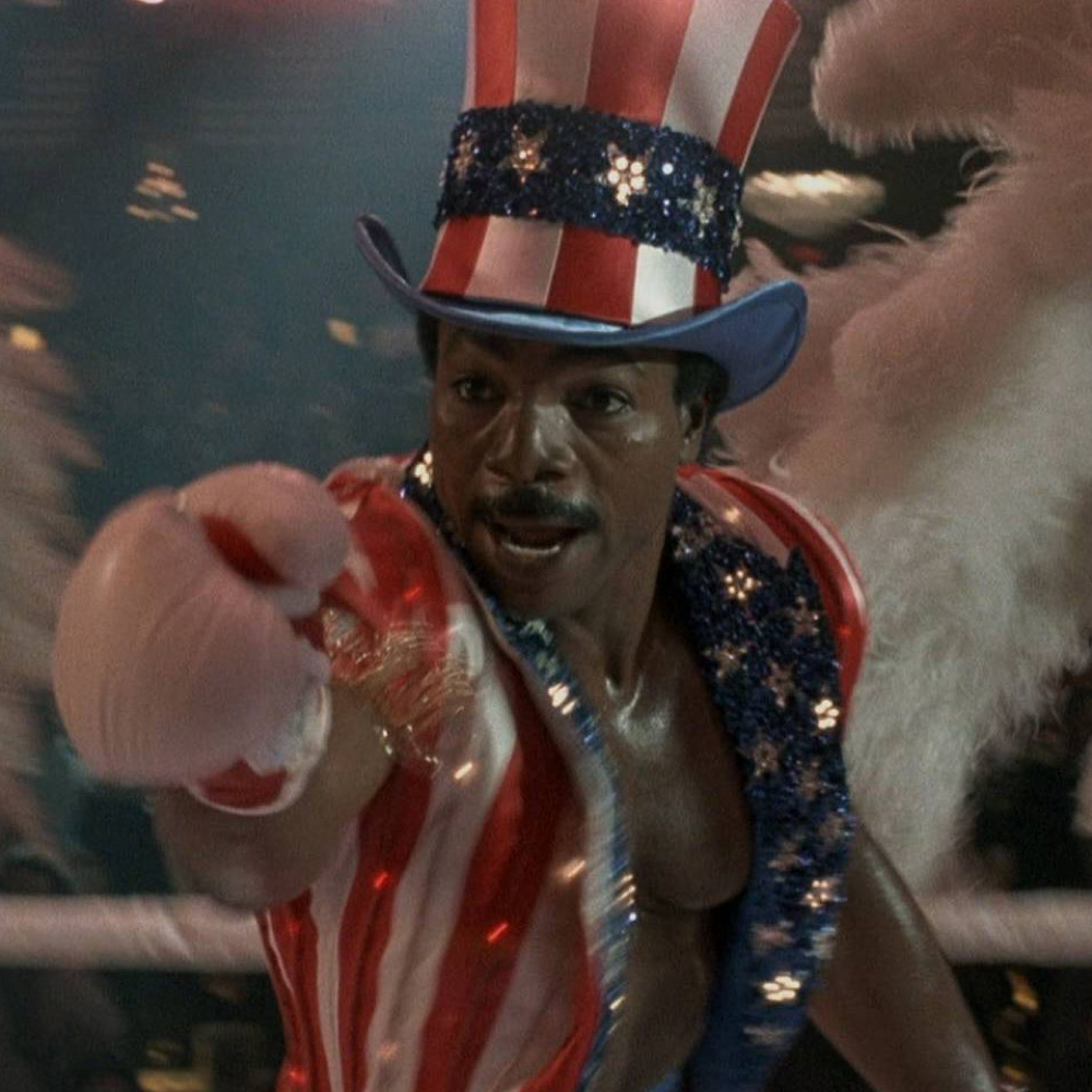 Apollo Creed Costume - Rocky - Apollo Creed Boxing Gloves