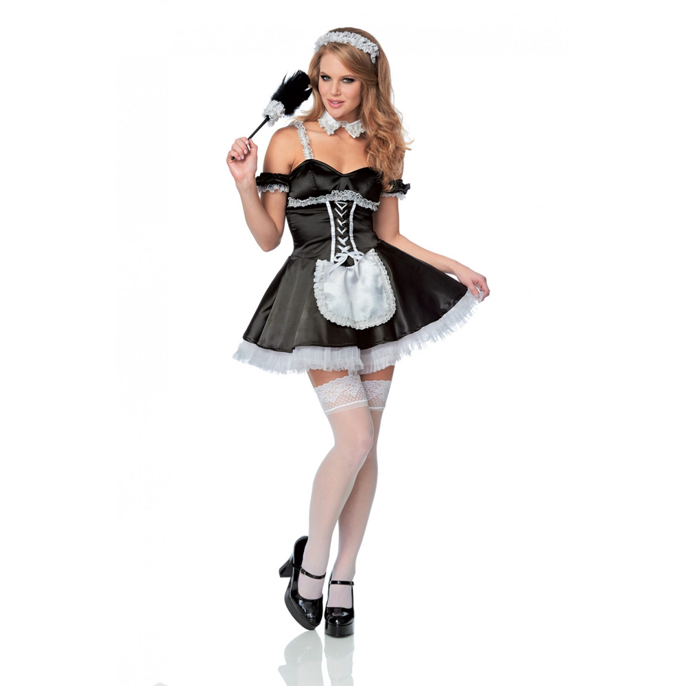 Sexy French Maid Costume - French Maid Stockings