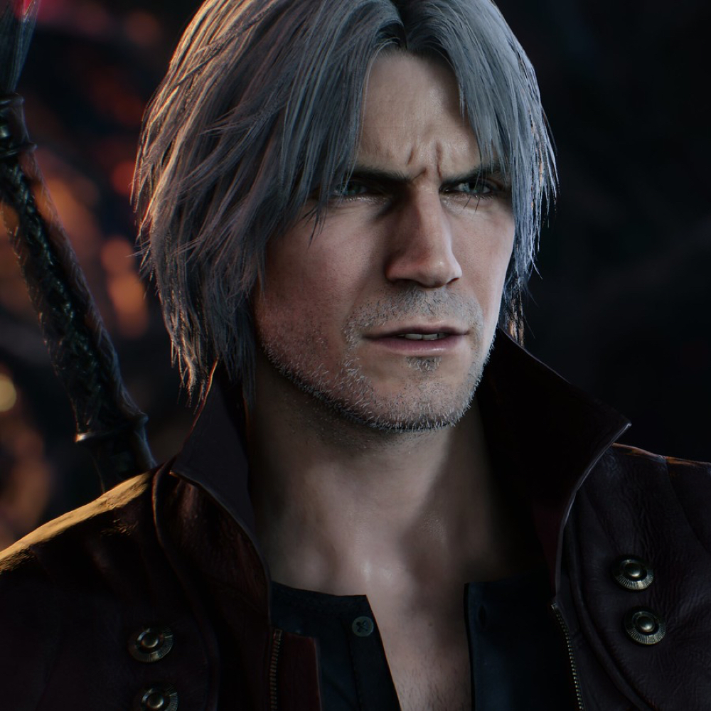 Dante Costume - Devil May Cry 5 Fancy Dress - Dante Hair Wig
