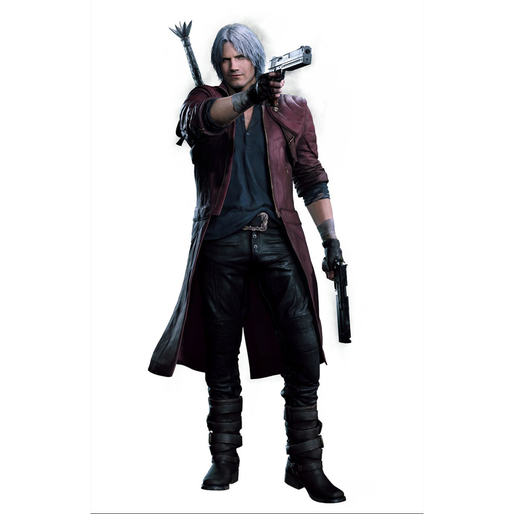 Nero Costume - Devil May Cry 5 Fancy Dress - Nero Red Rose Gun