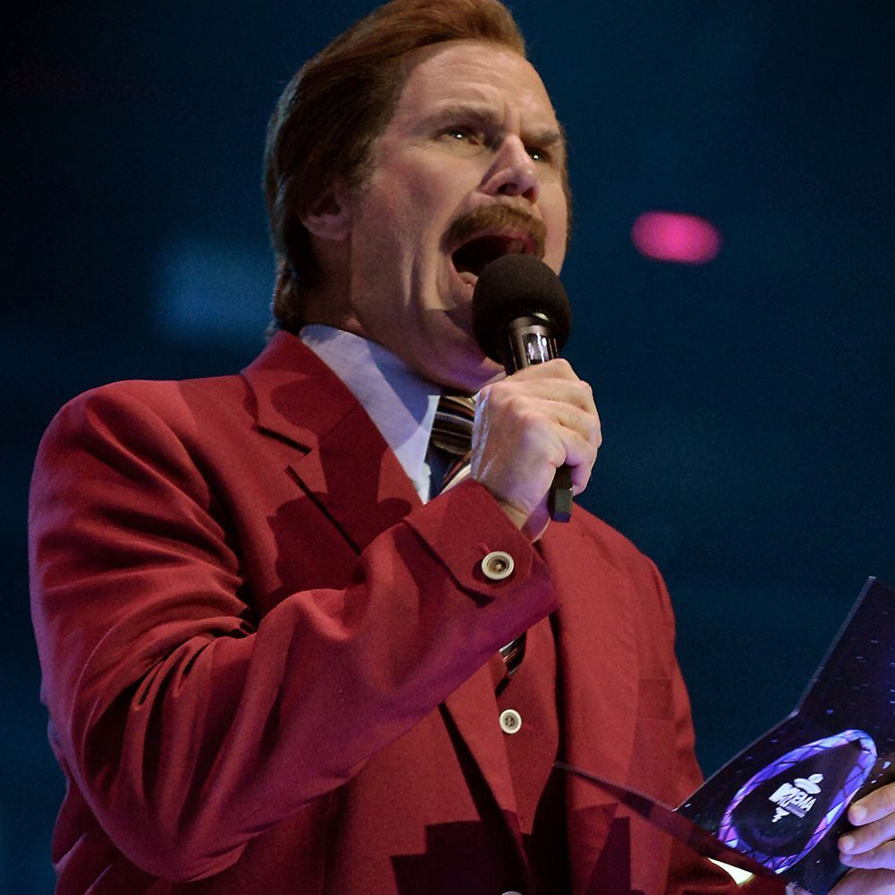 Ron Burgundy Costume - Anchorman Fancy Dress - Ron Burgundy Microphone