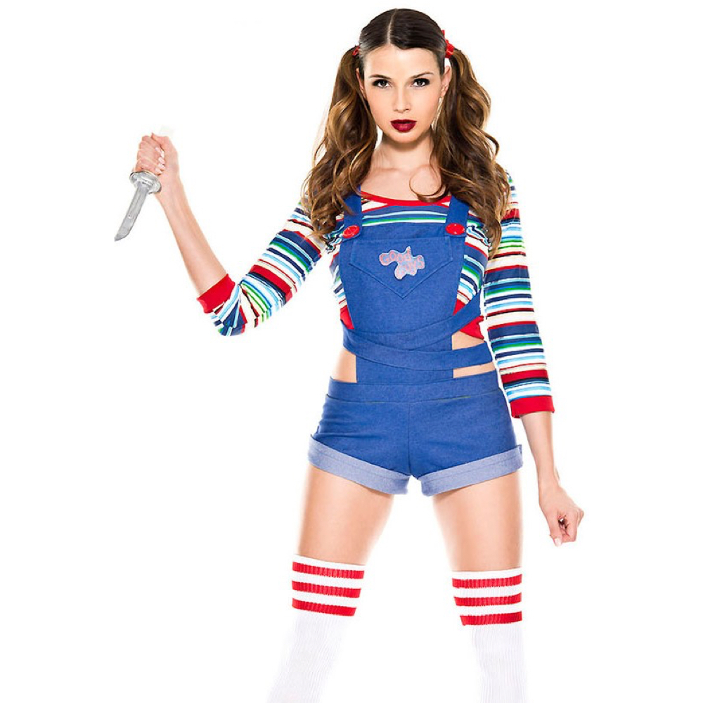 Sexy Chucky Costume - Child's Play Fancy Dress - Sexy Chucky T-Shirt