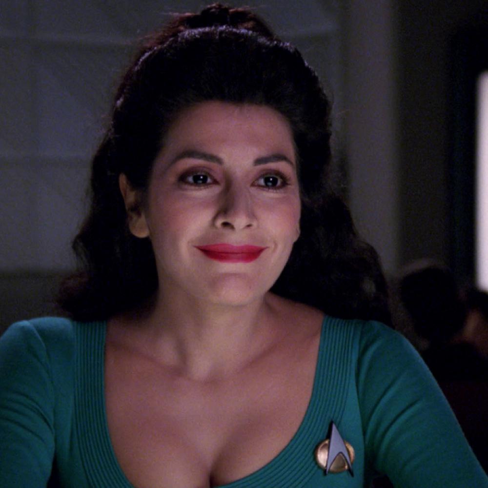 Deanna Troi Costume - Star Trek: The Next Generation Fancy Dress - Deanna Troi Hair Wig