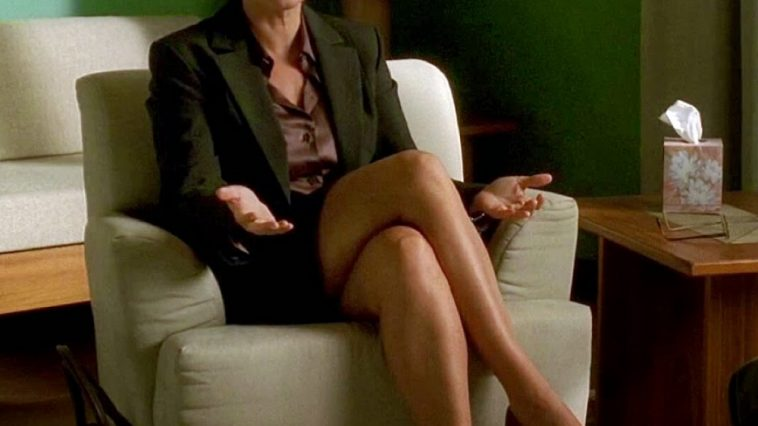 Dr Jennifer Melfi Costume - The Sopranos Fancy Dress - Dr Jennifer Melfi Cosplay - Lorraine Bracco Legs - Lorraine Bracco High Heels - Lorraine Bracco Pantyhose - Lorraine Bracco Stockings