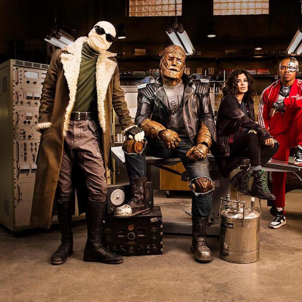 Negative Man Costume - Doom Patrol Fancy Dress - Negative Man Boots