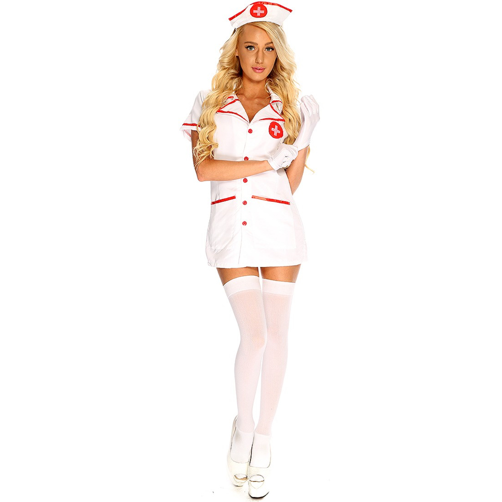 Sexy Nurse Costume - Naughty Nurse Costume - Fancy Dress - Sexy Nurse Stockings