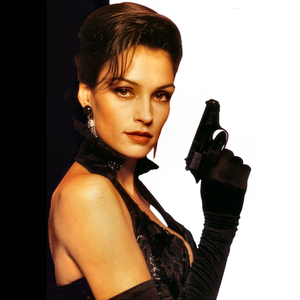 Xenia Onatopp Costume - James Bond - Goldeneye Fancy Dress - Xenia Onatopp Gun