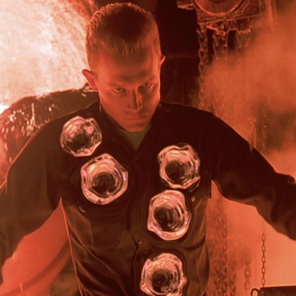 T-1000 Costume - Terminator 2: Judgement Day Fancy Dress - T-1000 Bullet Holes