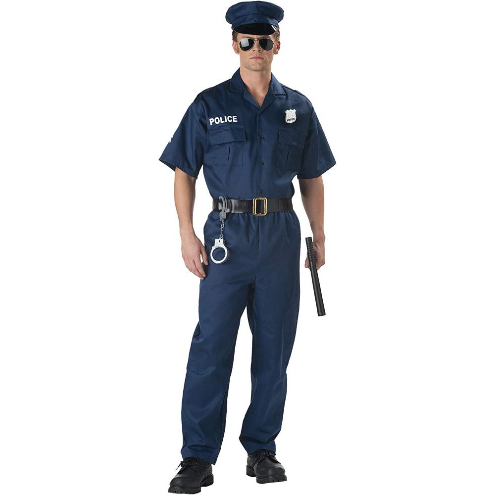 T-1000 Costume - Terminator 2: Judgement Day Fancy Dress - T-1000 Police Uniform