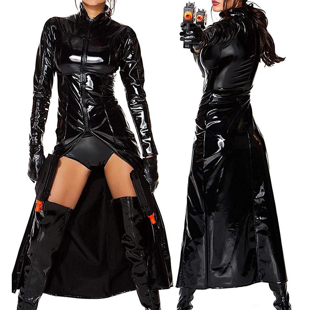 Trinity Costume - The Matrix Fancy Dress - Trinity Coat