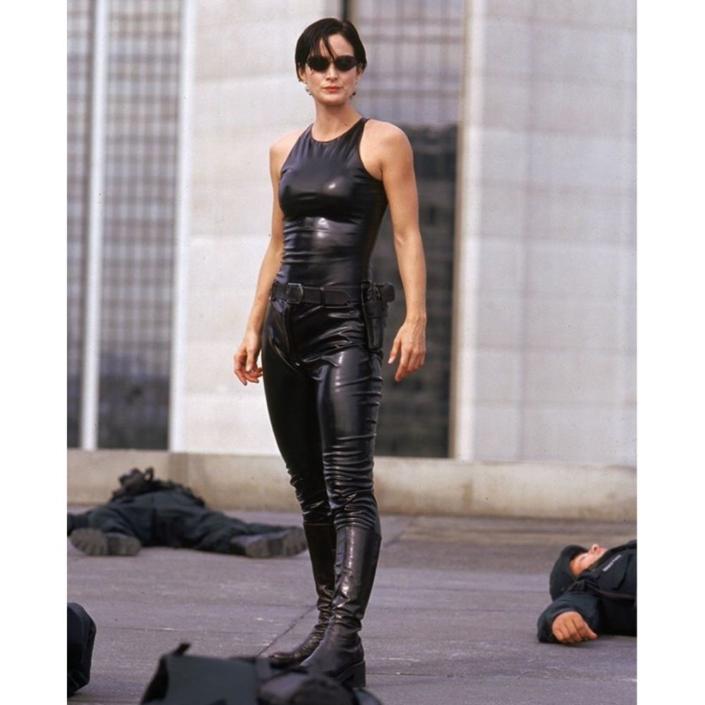 Trinity Costume - The Matrix Fancy Dress - Trinity Tank Top