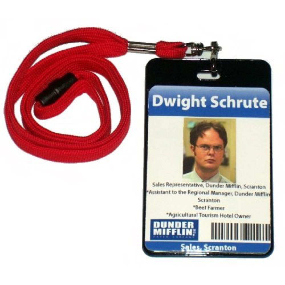 Dwight Schrute Costume - The Office - Dwight Schrute ID Badge