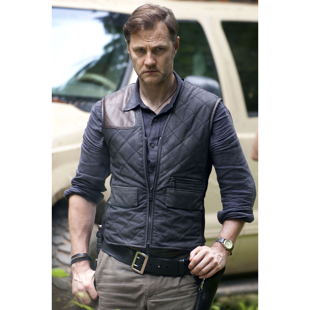 The Governor Costume - The Walking Dead - The Governor Quilted Vest