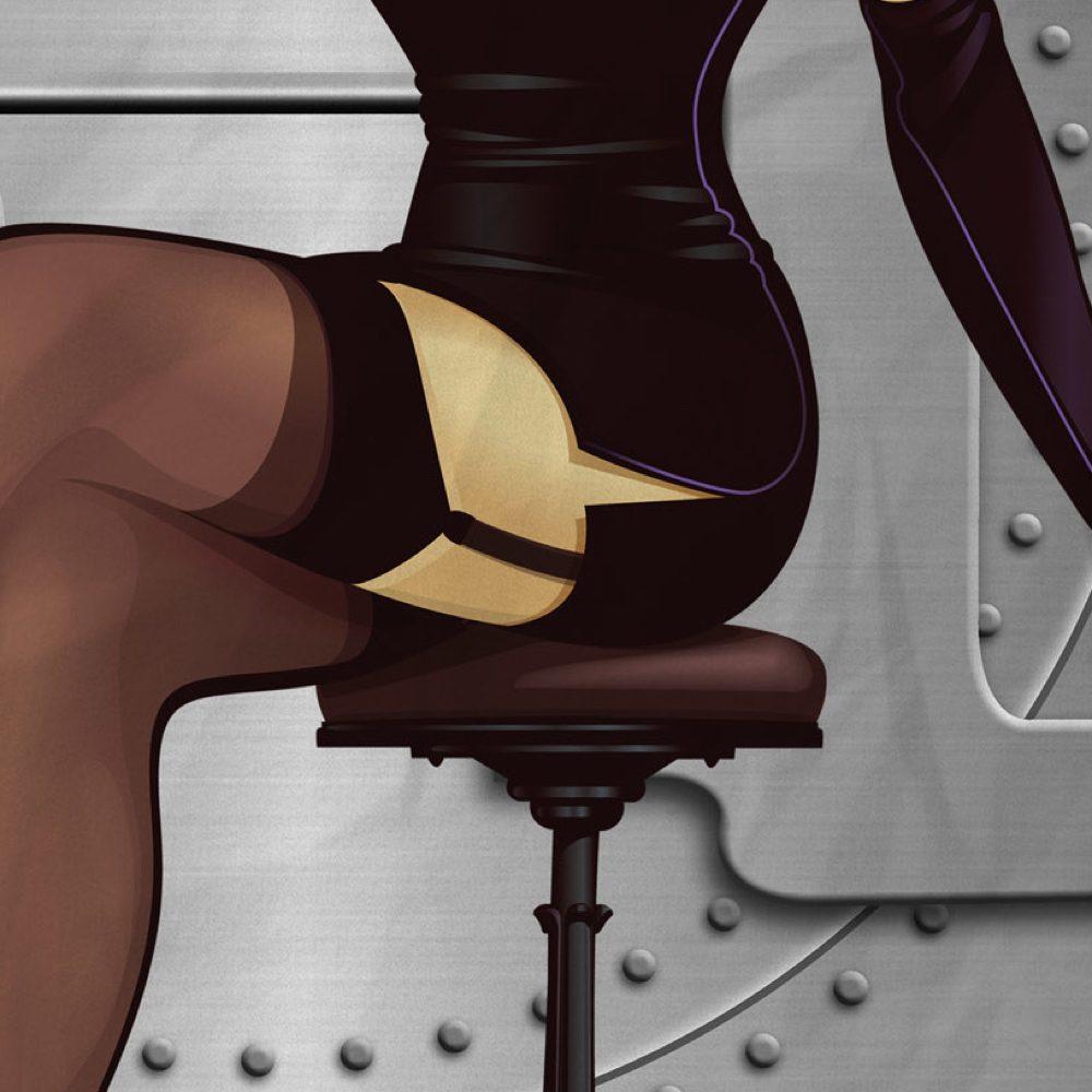 Bombshell Catwoman Costume - DC Bombshells - Bombshell Catwoman Garter Belt