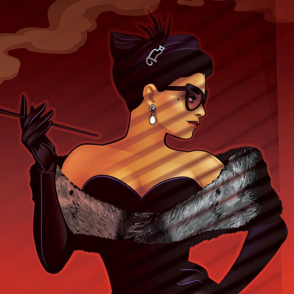 Bombshell Catwoman Costume - DC Bombshells - Bombshell Catwoman Sunglasses