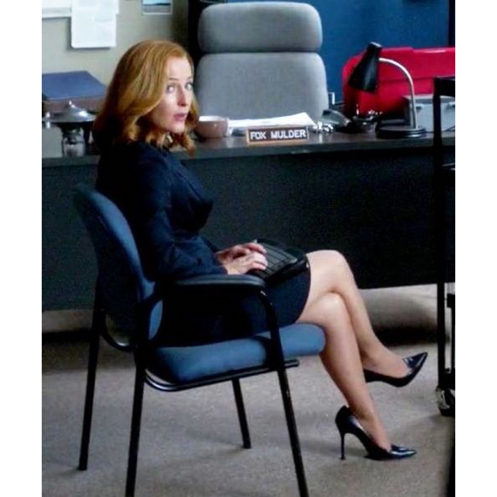 dress like dana scully high heels