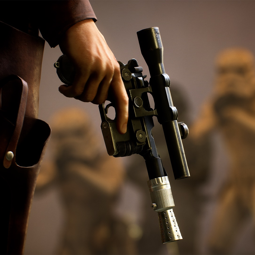 Han Solo Costume - Han Solo Gun - Solo A Star Wars Story Costume