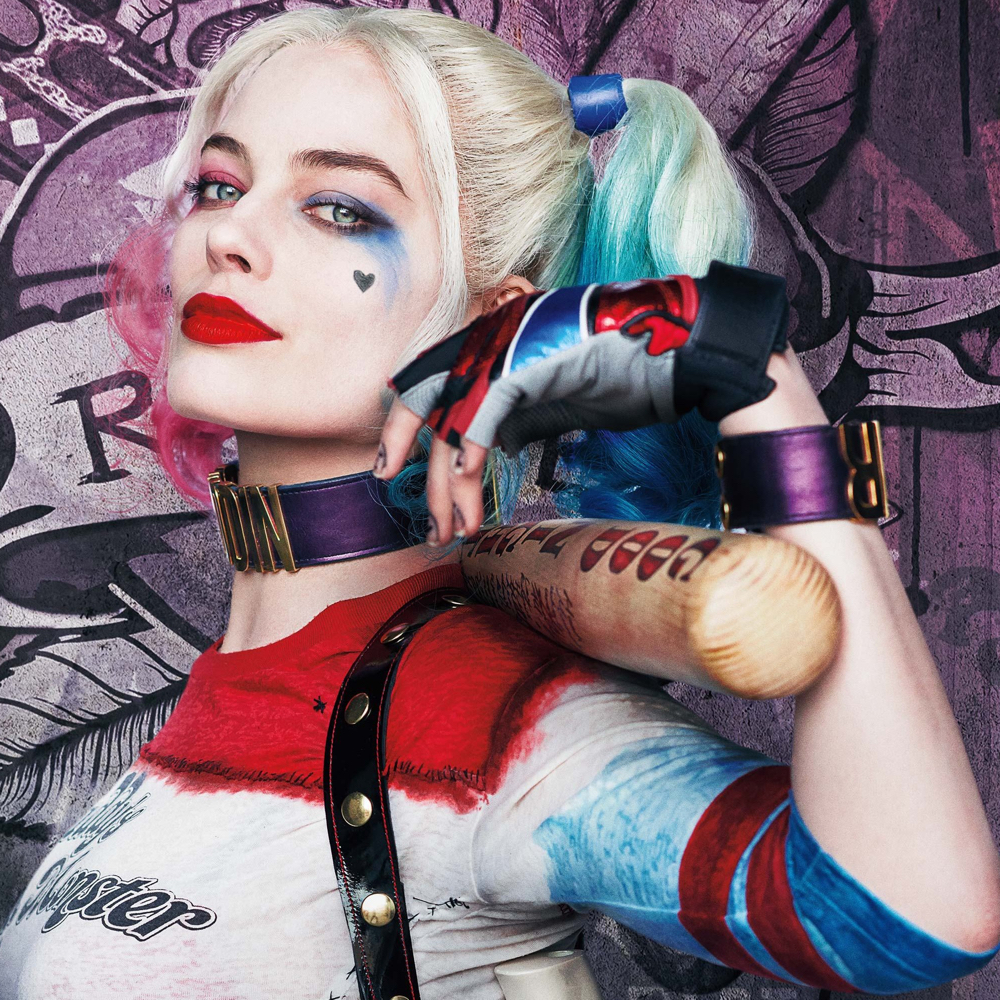 Margot Robbie Harley Quinn Costume - Harley Quinn gloves - Suicide Squad Costume