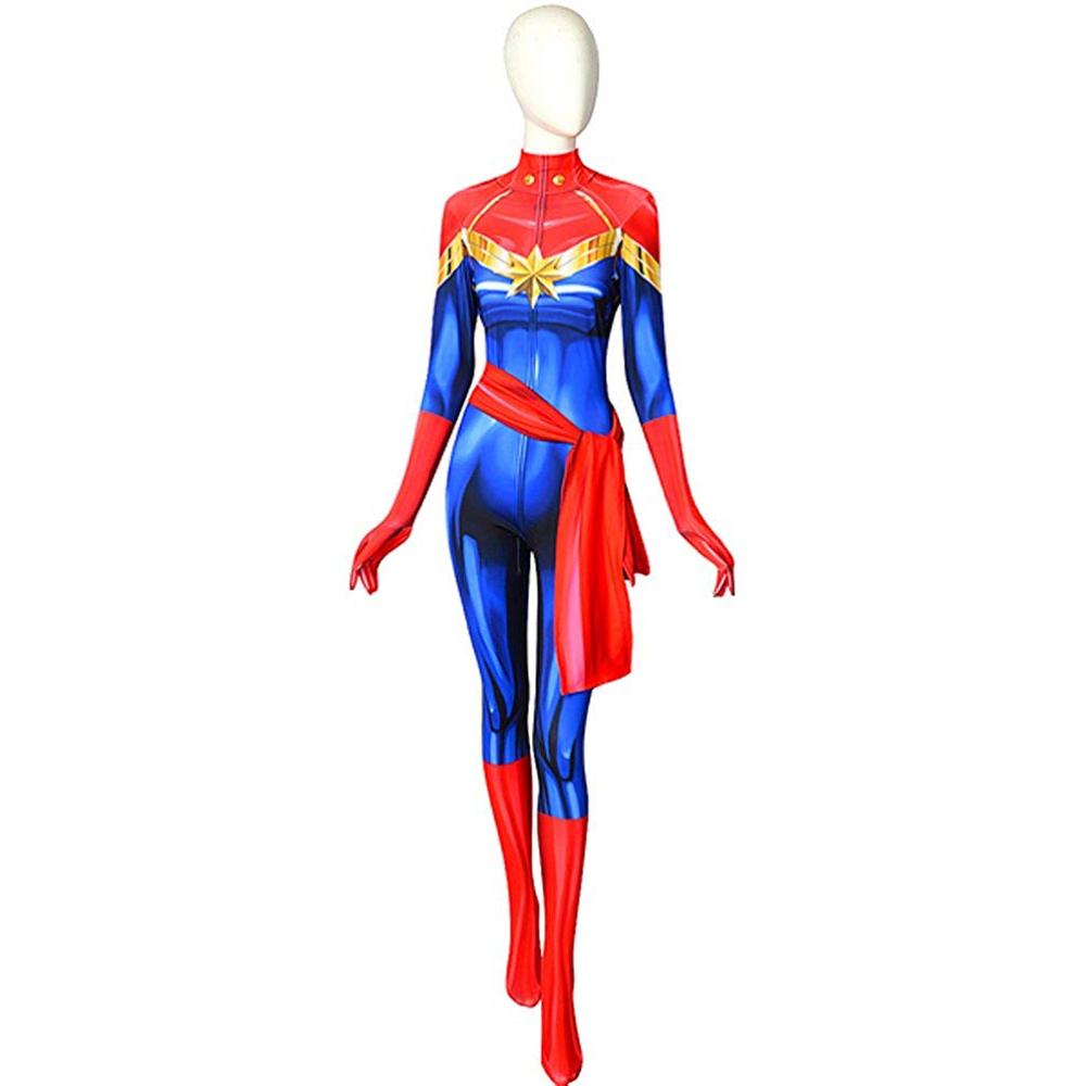 Captain Marvel Costume - Captain Marvel Cosplay - Captain Marvel Body Suit
