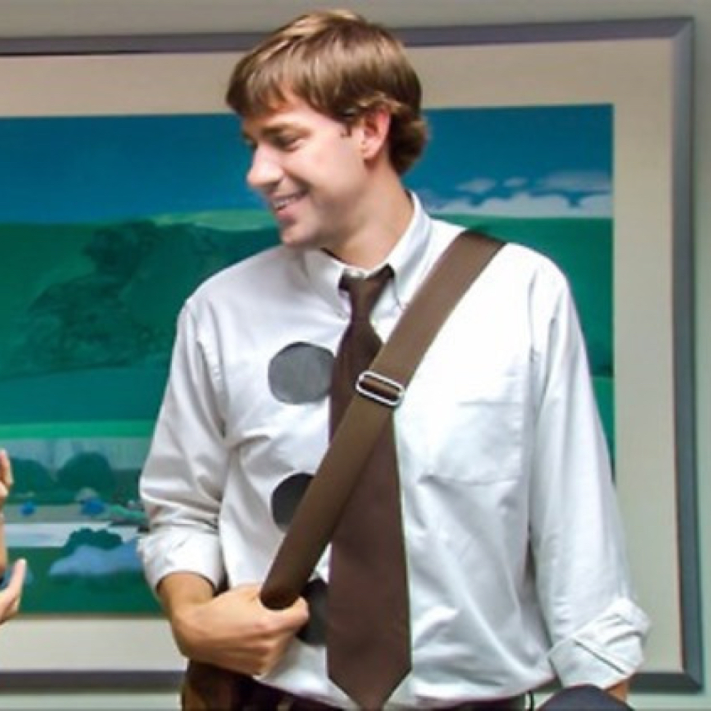 Jim Halpert Costume - The Office - 3 Hole Punch Jim Costume