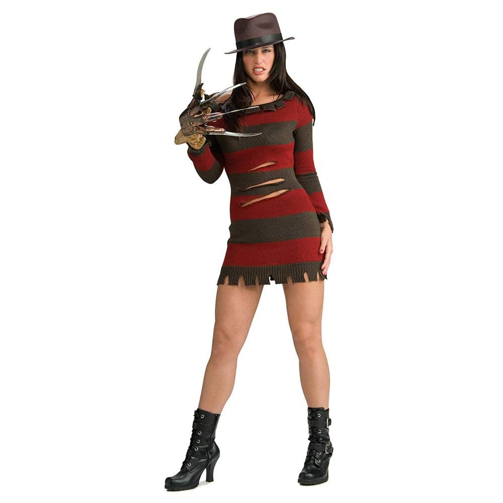 Sexy Freddy Krueger Costume for Women - Sexy Freddy Krueger Jumper Dress