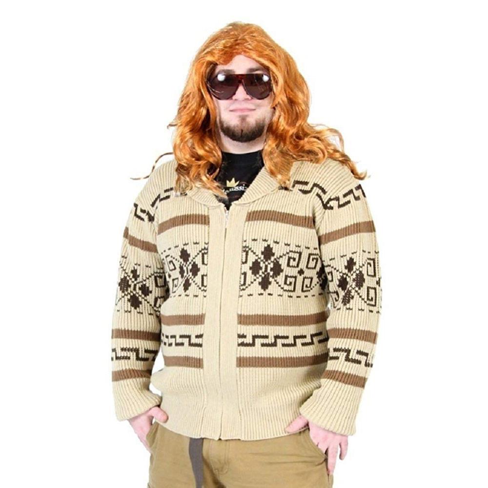 The Dude Costume - The Big Lebowski - Jeffery Lebowski Costume - The Dude Cardigan