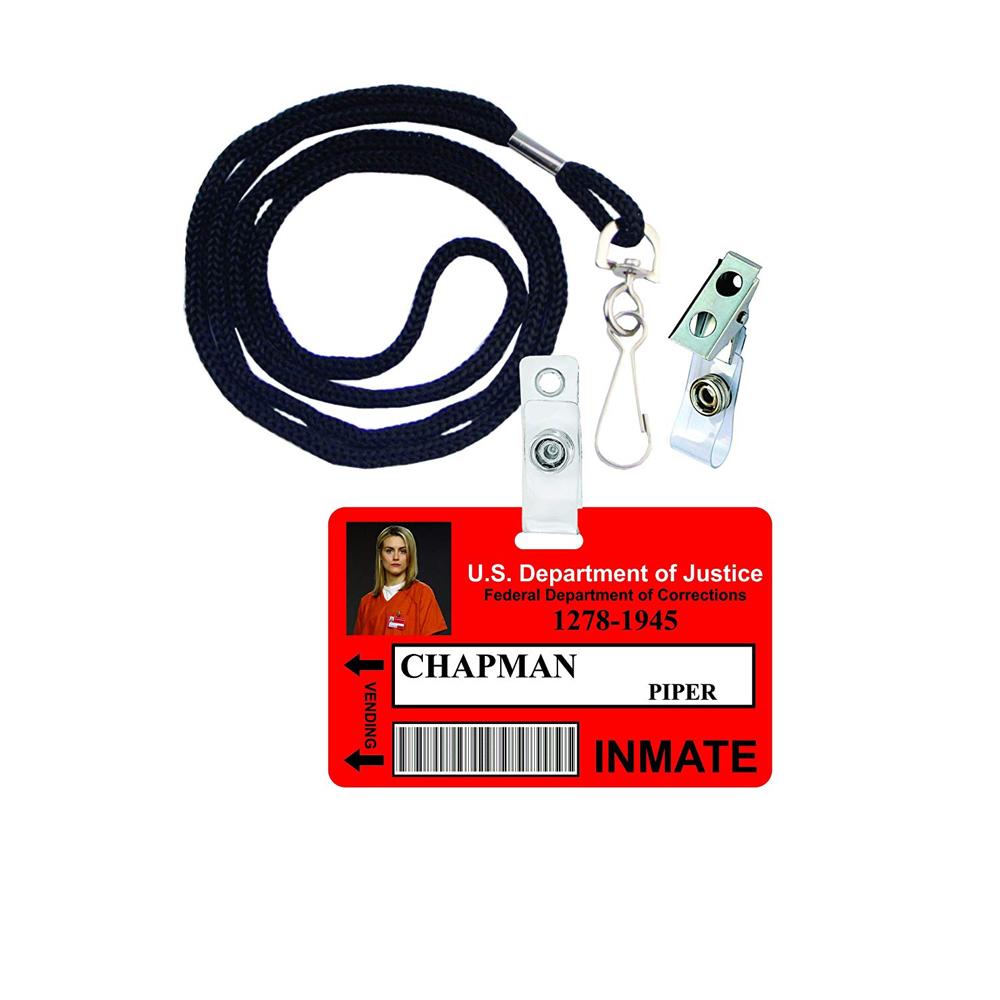 Piper Chapman Costume - Orange is the New Black - Piper Chapman ID Badge