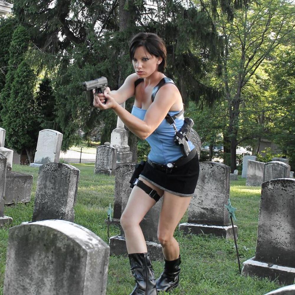 Jill Valentine Costume - Resident Evil - Jill Valentine Leg Drop Holster