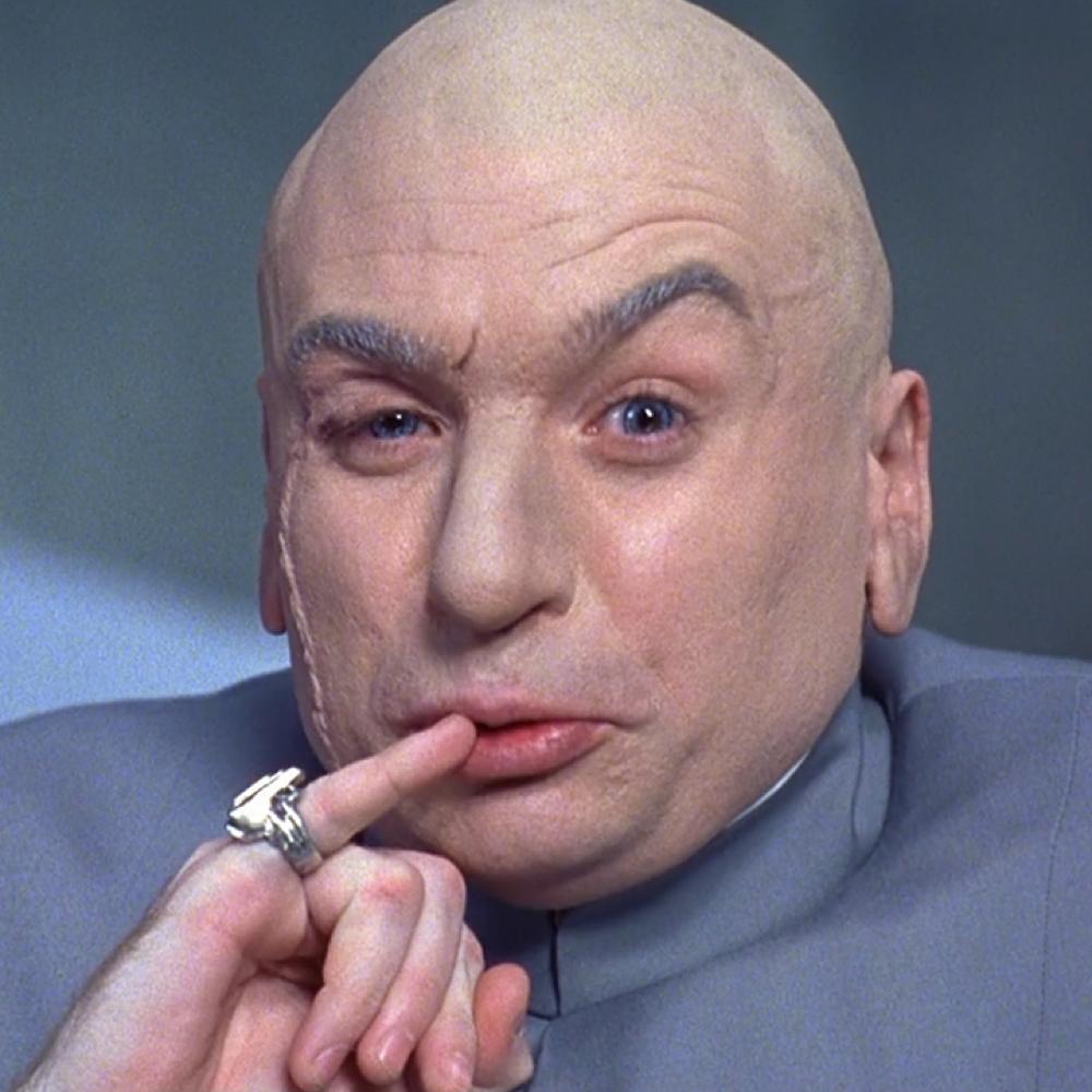 Dr Evil Costume - Austin Powers - Dr Evil Bald Head