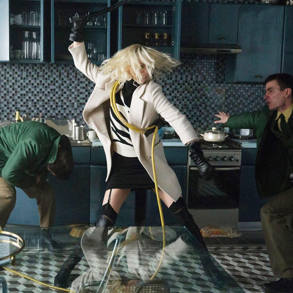 Lorraine Broughton Costume - Atomic Blonde Costume - Lorraine Broughton Suspenders