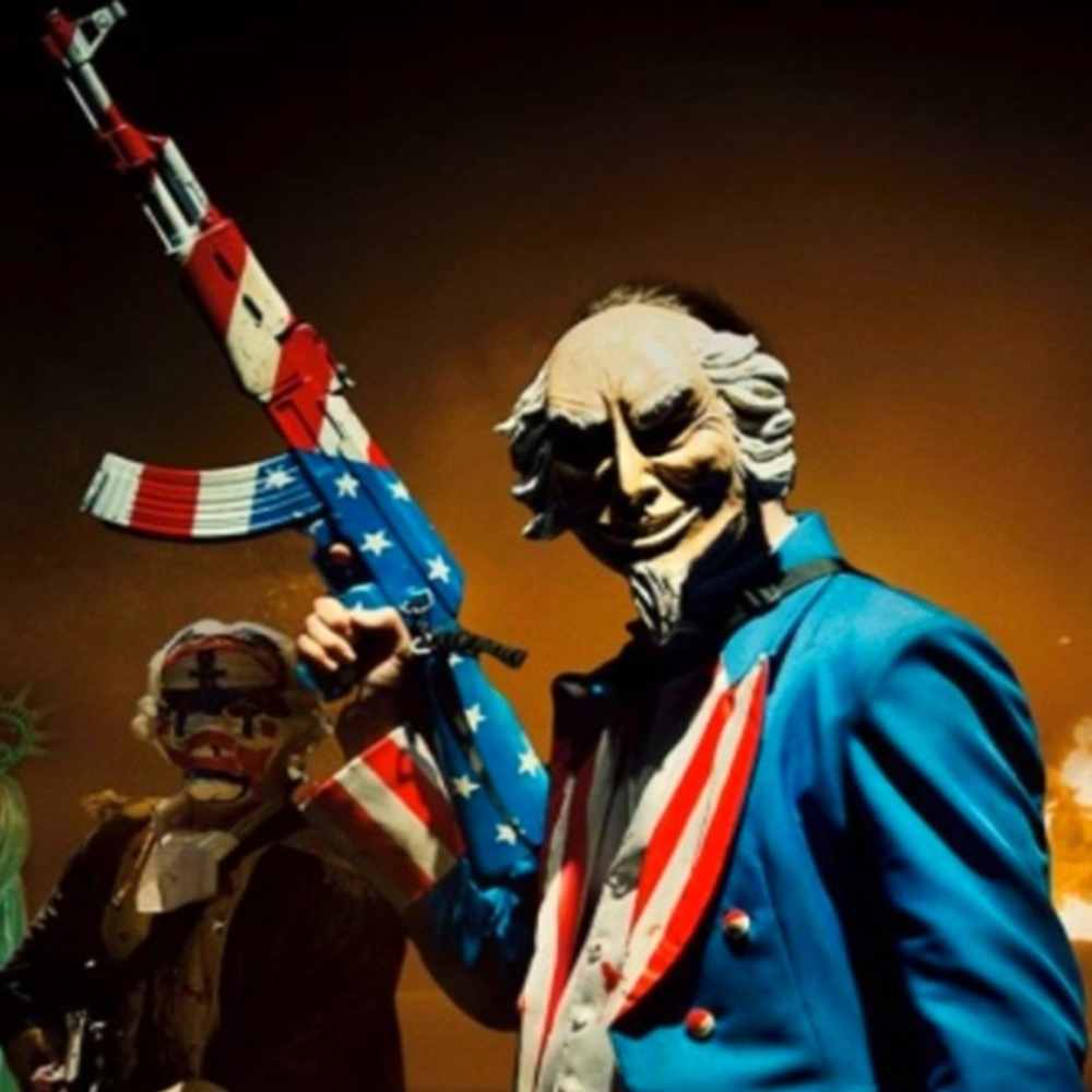 Uncle Sam Costume - The Purge: Election Year - Uncle Sam Gun Paint