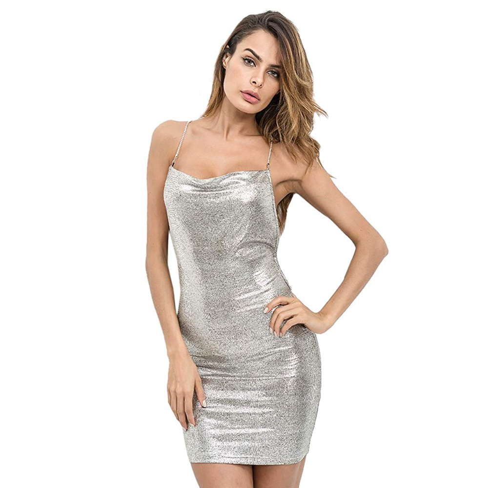 Vanessa Kensington Costume - Austin Powers - Vanessa Kensington Silver Dress - Elizabeth Hurley Knee High Boots