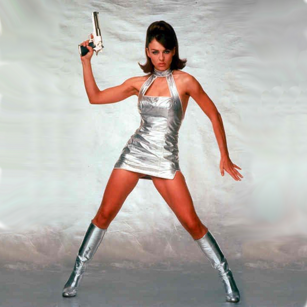 Vanessa Kensington Costume - Austin Powers - Vanessa Kensington Silver Dress - Elizabeth Hurley Knee High Boots