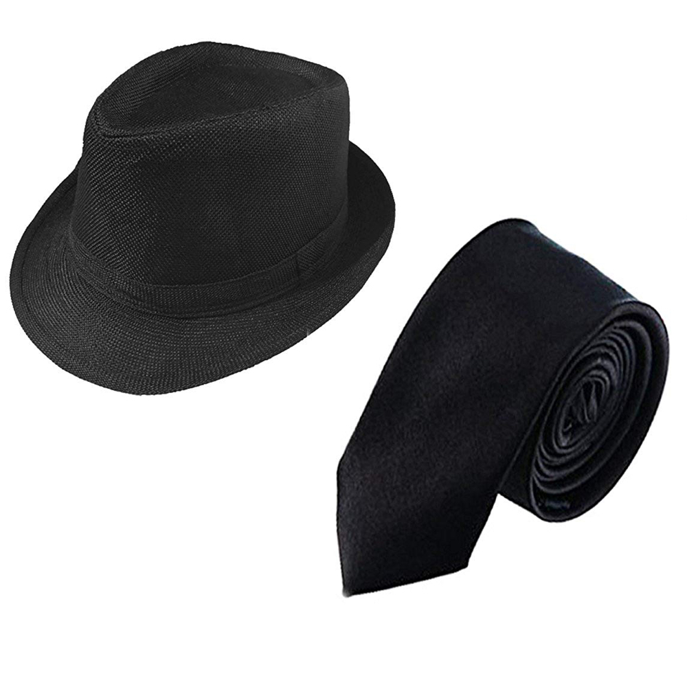 Blues Brothers Costume - Jake and Elwood Fancy Dress - Blues Brothers Hat