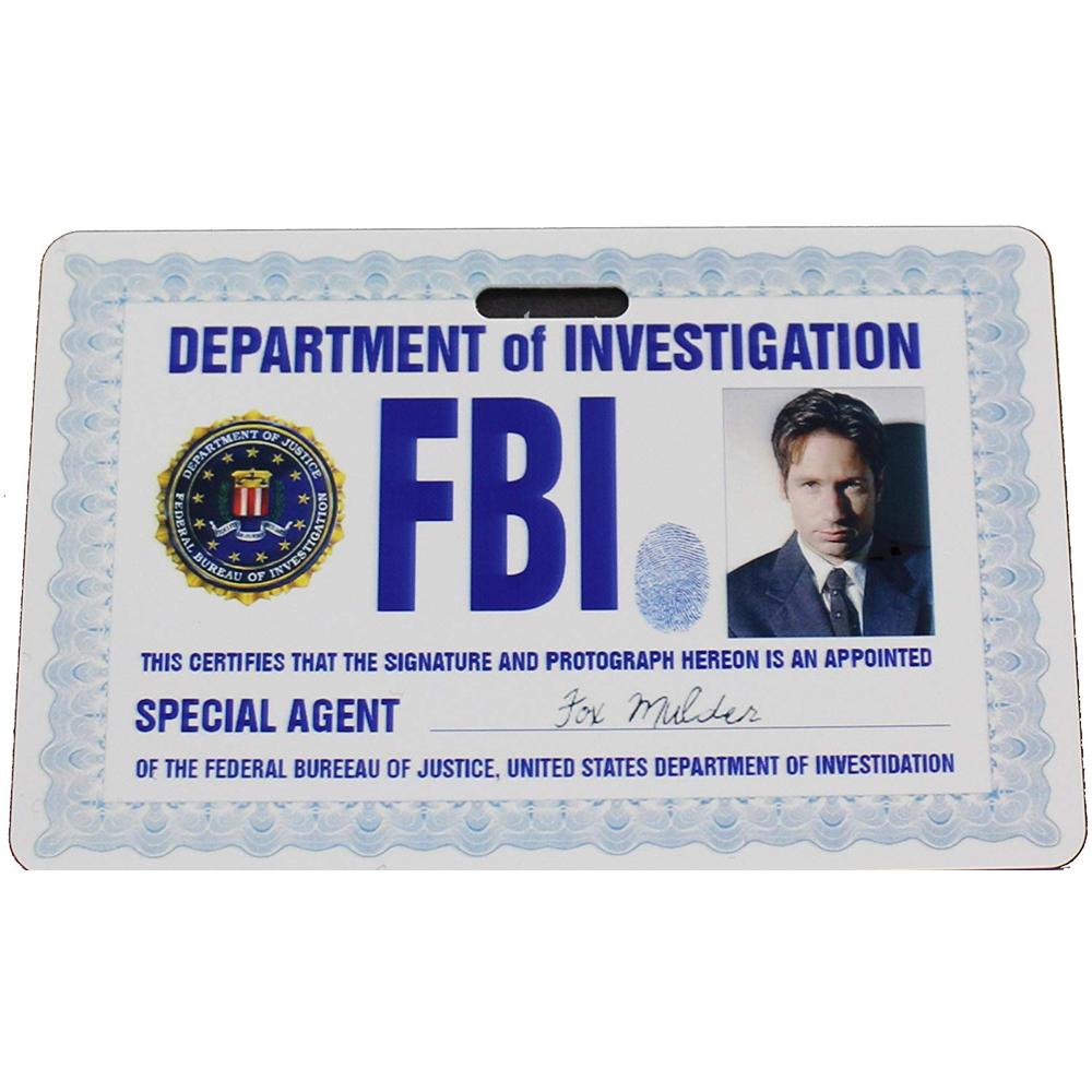 Fox Mulder Costume - The X-Files Fancy Dress - Fox Mulder FBI Badge