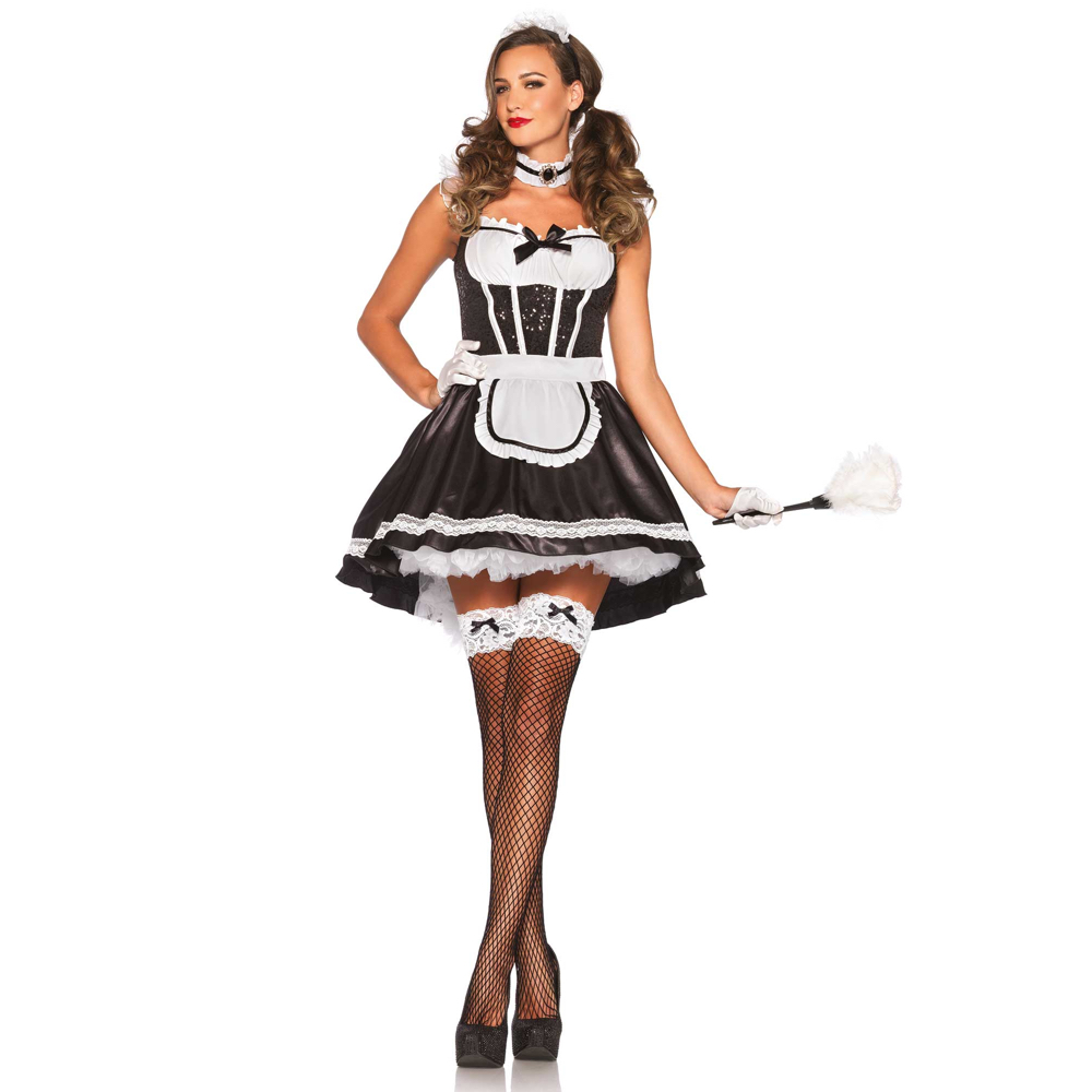 Sexy French Maid Costume - French Maid Feather Duster
