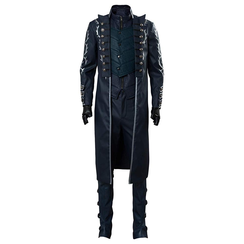Vergil Costume - Devil May Cry 5 Fancy Dress - Vergil Jacket