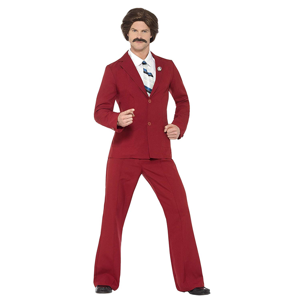 Ron Burgundy Costume - Anchorman Fancy Dress - Ron Burgundy Complete Costume