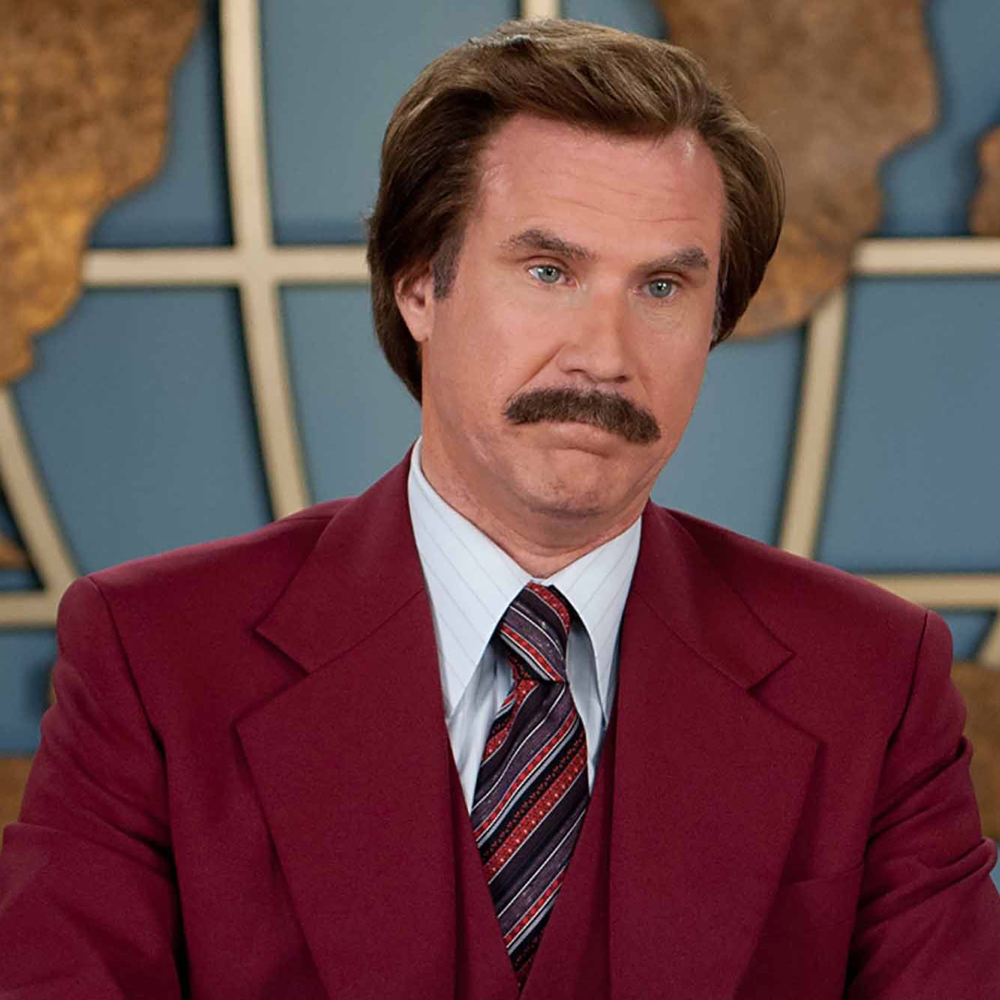 Ron Burgundy Costume - Anchorman Fancy Dress - Ron Burgundy Hair Wig