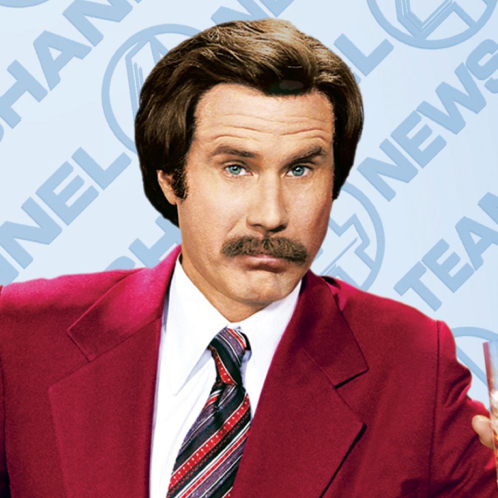 Ron Burgundy Costume - Anchorman Fancy Dress - Ron Burgundy Mustache