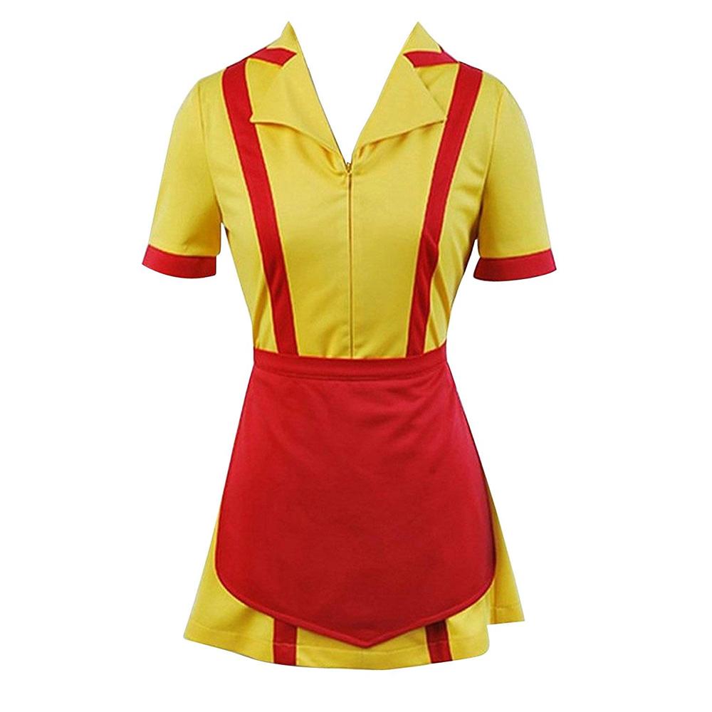 2 Broke Girls Costume - 2 Broke Girls Fancy Dress - 2 Broke Girls Waitress Uniform