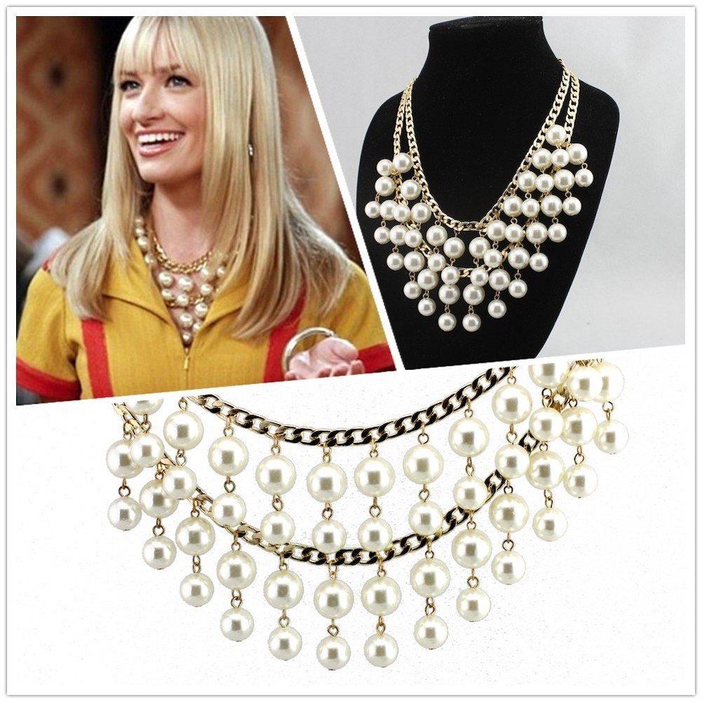 2 Broke Girls Costume - 2 Broke Girls Fancy Dress - 2 Broke Girls Necklace - Caroline Necklace