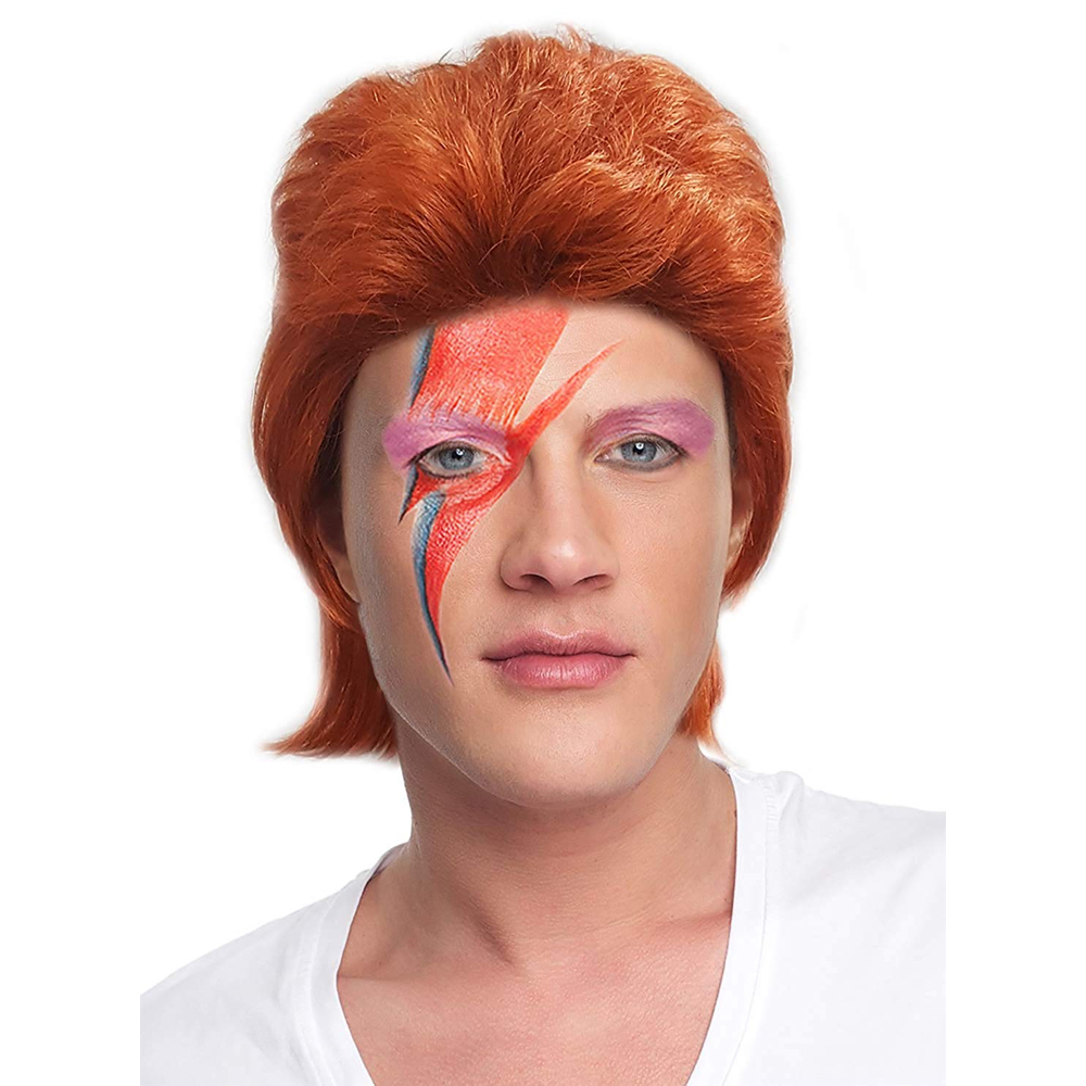 David Bowie Costume - Life on Mars Fancy Dress - David Bowie Hair Wig
