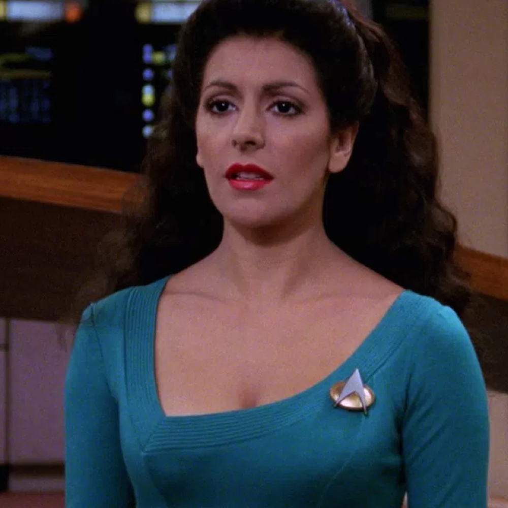 Deanna Troi Costume - Star Trek: The Next Generation Fancy Dress - Deanna Troi Communicator Badge