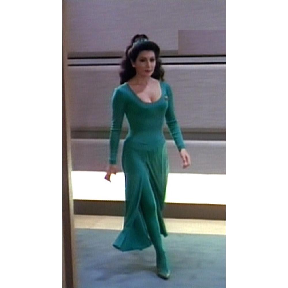 Deanna Troi Costume - Star Trek: The Next Generation Fancy Dress - Deanna Troi Pantyhose