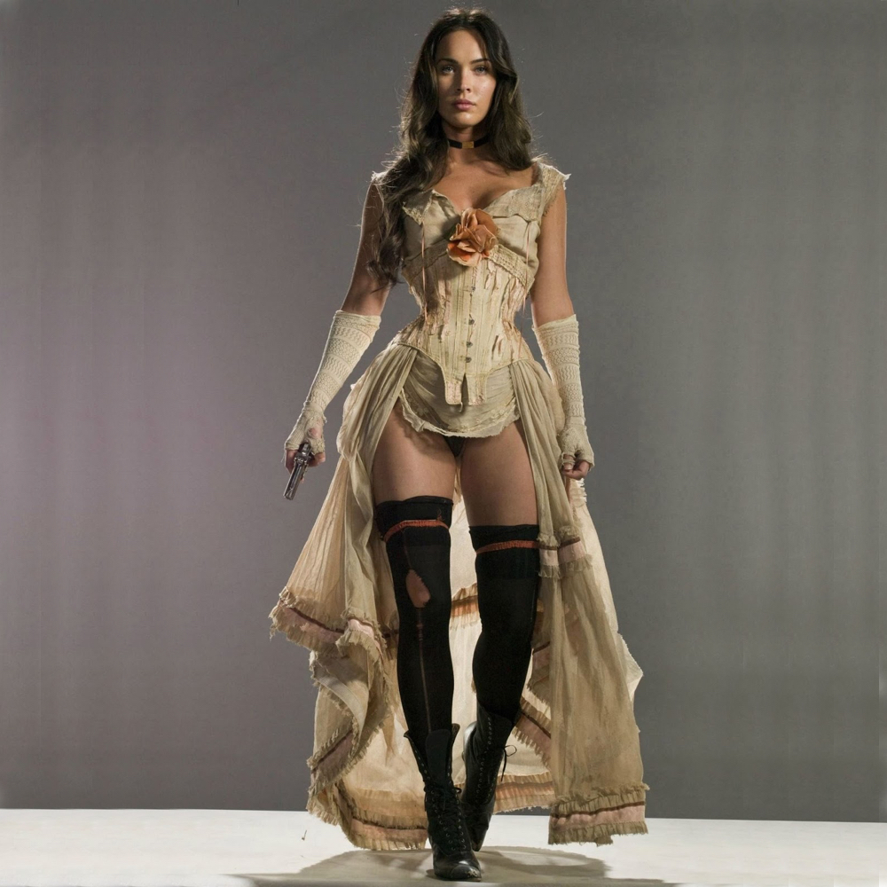 Lilah Costume - Jonah Hex Fancy Dress - Lilah Boots - Megan Fox Boots Megan Fox High Heels