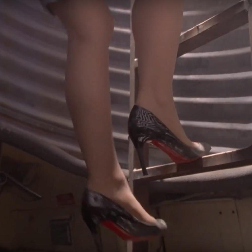 Lydia Rodarte-Quayle Costume - Breaking Bad Fancy Dress - Lydia Rodarte-Quayle High Heels - Laura Fraiser Legs - Laura Fraser Pantyhose - Laura Fraser High Heels